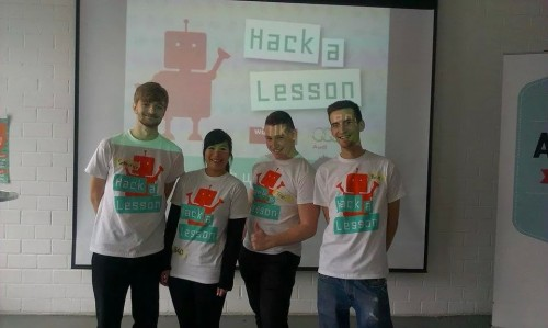 The team of Hack-a-Lesson: Sebastian, Bao, Tobias and Ben.